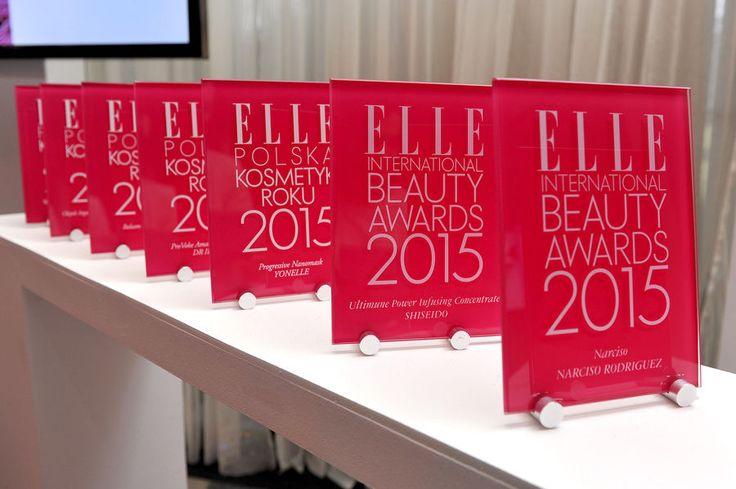ELLE International Beauty Awards 2015, Statuetki EIBA, fot. AKPA #clochee