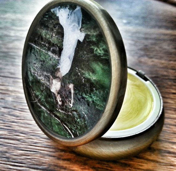 Organic Solid Perfume in Art Case  Gem Like by AncientGreekElixirs