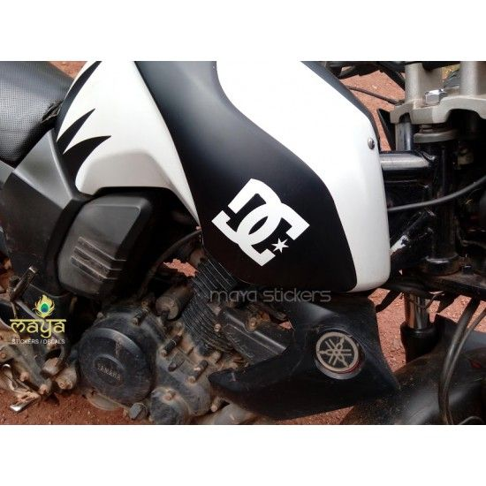 Dc logo sticker on yamaha fz