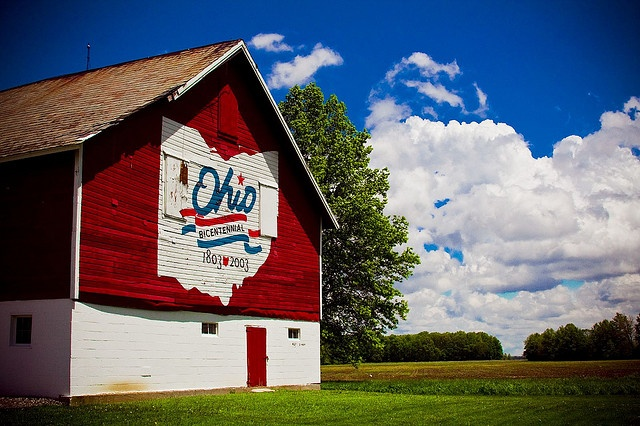 Lorain County.  Ohio has the best barns!