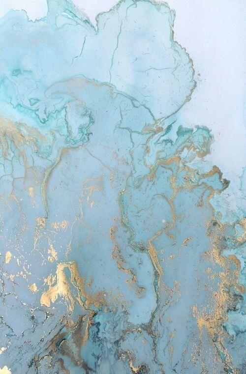Beautiful gold & aqua wallpaper
