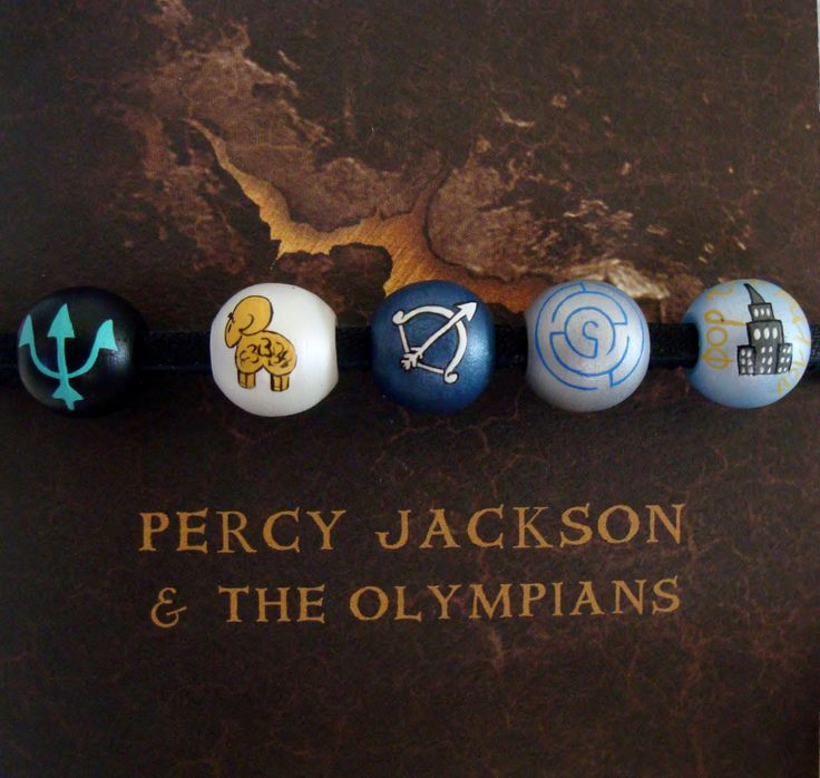 percy jackson necklace, camp half blood, lightning theif, beaded necklace. $28.00, via Etsy.