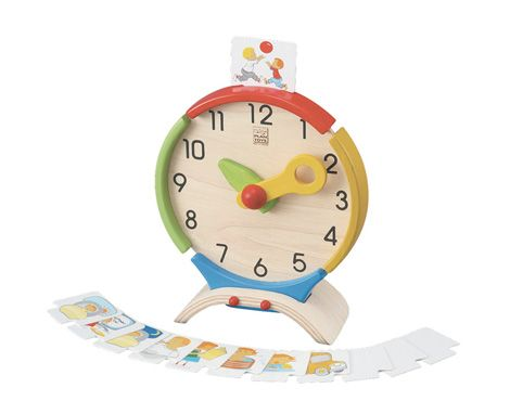This vibrant clock includes activity cards that can be placed on the top of the clock so that children can match the time with their activity.