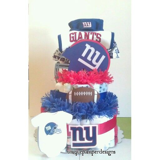 Baby Gift Baskets New York : New york giants theme baby shower ny giant