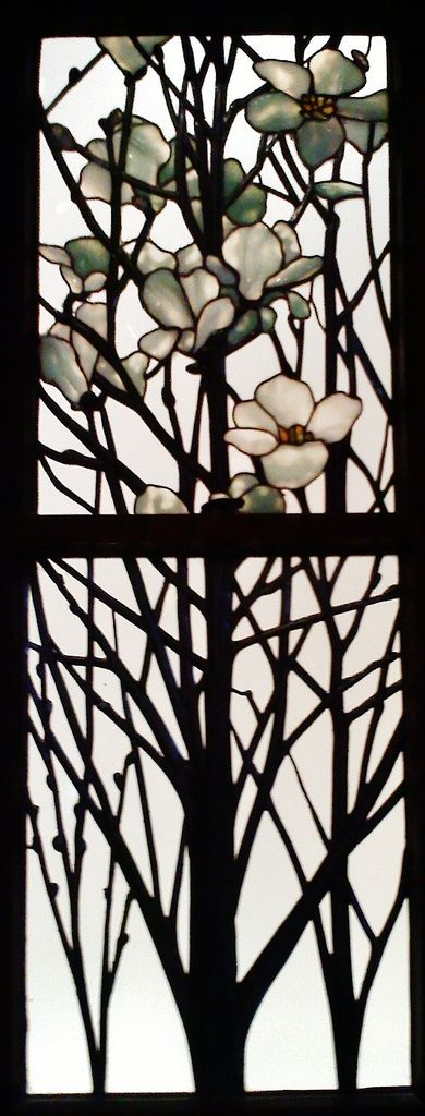 Louis Comfort Tiffany — Detail of Apple Blossom and Magnolia Bloom | Flickr - Photo Sharing!