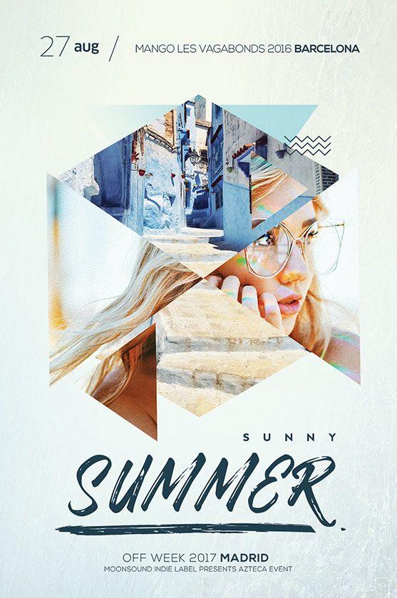 DJ Summer Flyer Branding Palette Pinterest Flyer template