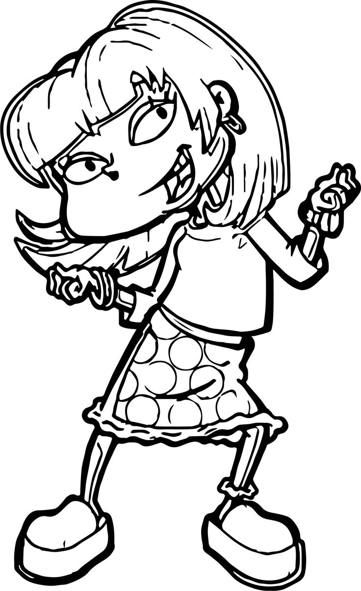 awesome Angelica Rugrats All Grown Up Coloring Page