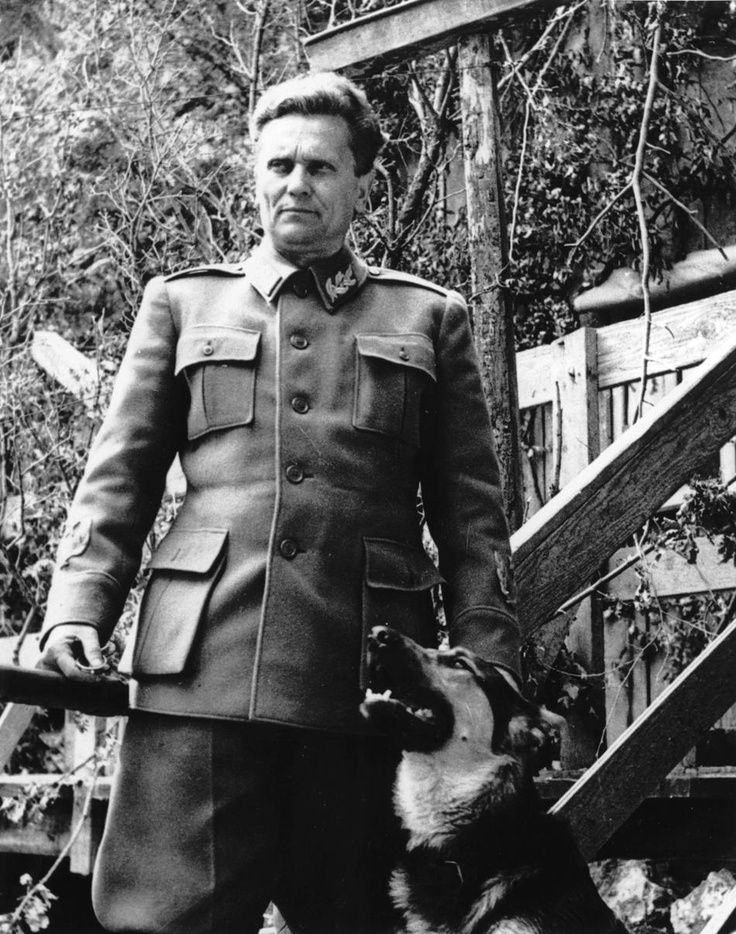 Marshal Josip Broz Tito, who united the Yugoslav partisans in the fight against the Nazis, poses for the camera with his dog in June 1944. Tito ruled Yugoslavia until his death in 1980. Within a decade after Tito's passing, Yugoslavia sunk in civil war and split again into its constituent parts.