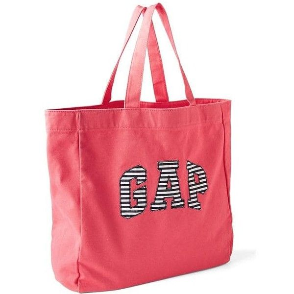 Gap Women Large Logo Tote ($24) ❤ liked on Polyvore featuring bags, handbags, tote bags, regular, rosehip, red purse, canvas purse, gap tote bag, handbags totes and canvas tote handbags