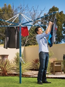Hills Rotary 6 Clothesline- With a handy 34m of clothes line space and a head diameter of only 2.9 metres, this rotary clothes line is ideal for those smaller homes and areas such as courtyards, small backyards and compact living areas. http://www.lifestyleclotheslines.com.au/hills-rotary-6-clothesline/
