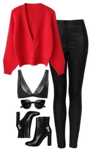 Untitled #250 by lindsjayne on Polyvore featuring polyvore fashion style Topshop Gianvito Rossi ZeroUV clothing by denise.su