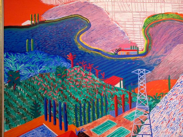 David Hockney. Mullholland Drive, 1980. LACMA