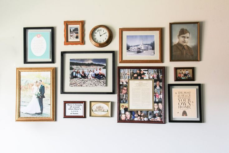 Family Gallery wall. Thrifted.  suzannekryton.com