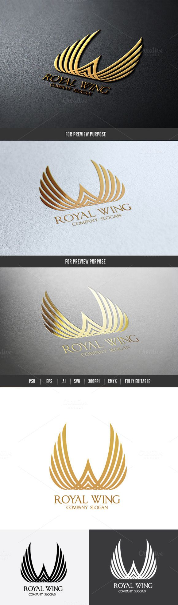 Royal Wing by Super Pig Shop on Creative Market                                                                                                                                                                                 More