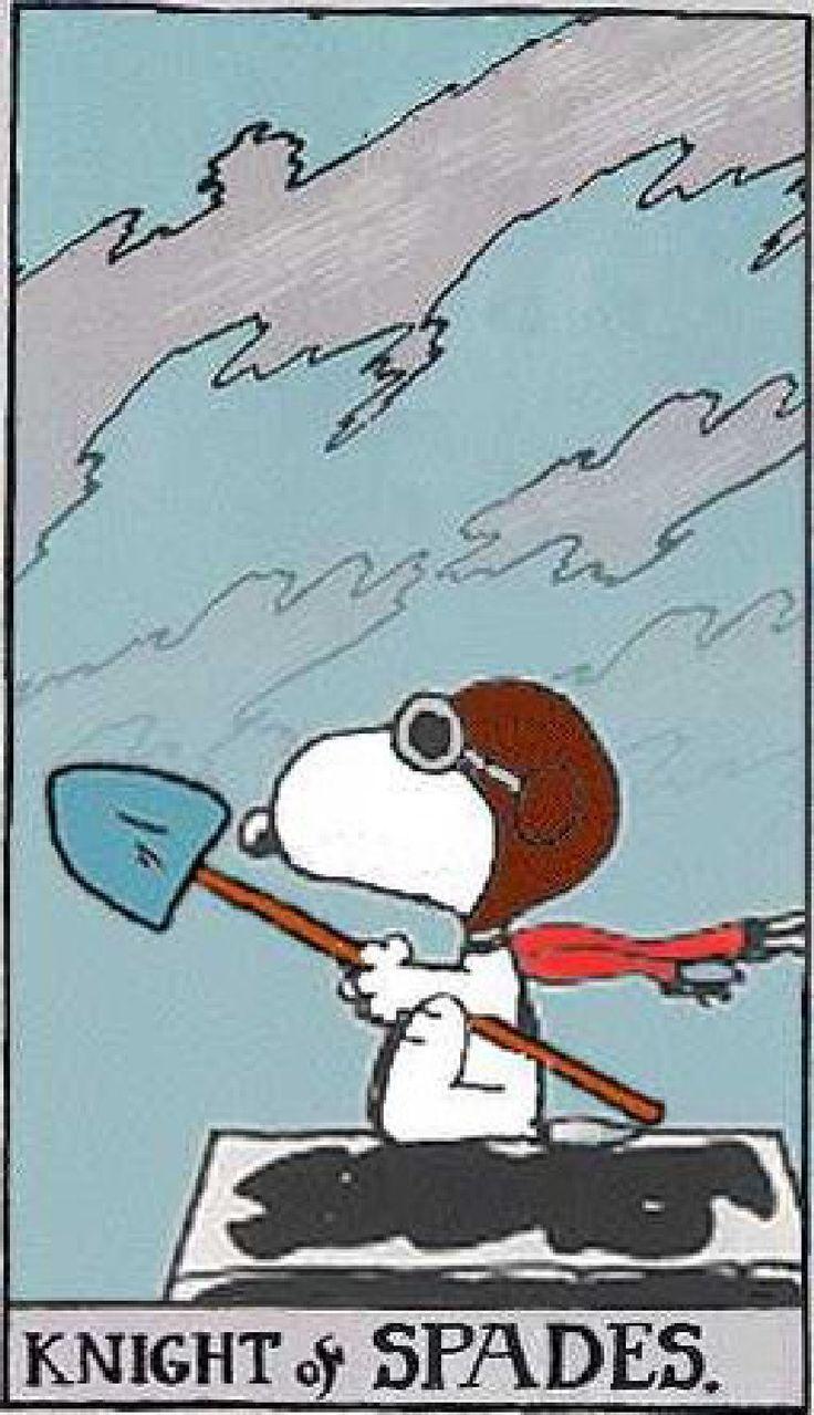 Peanuts Tarot: Knights of Spades
