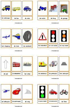 Woordkaarten verkeer