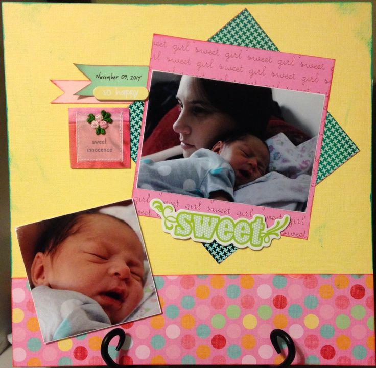 Paper by: Me & My Big Ideas - Mambi Sheets: Baby Girl Embellished with: Me & My Big Ideas Mambi Sticks and Soft Spoken