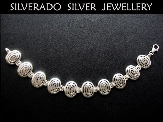 Ancient Greek Spiral Key Modern Swirl by SilveradoJewellery, €105.00