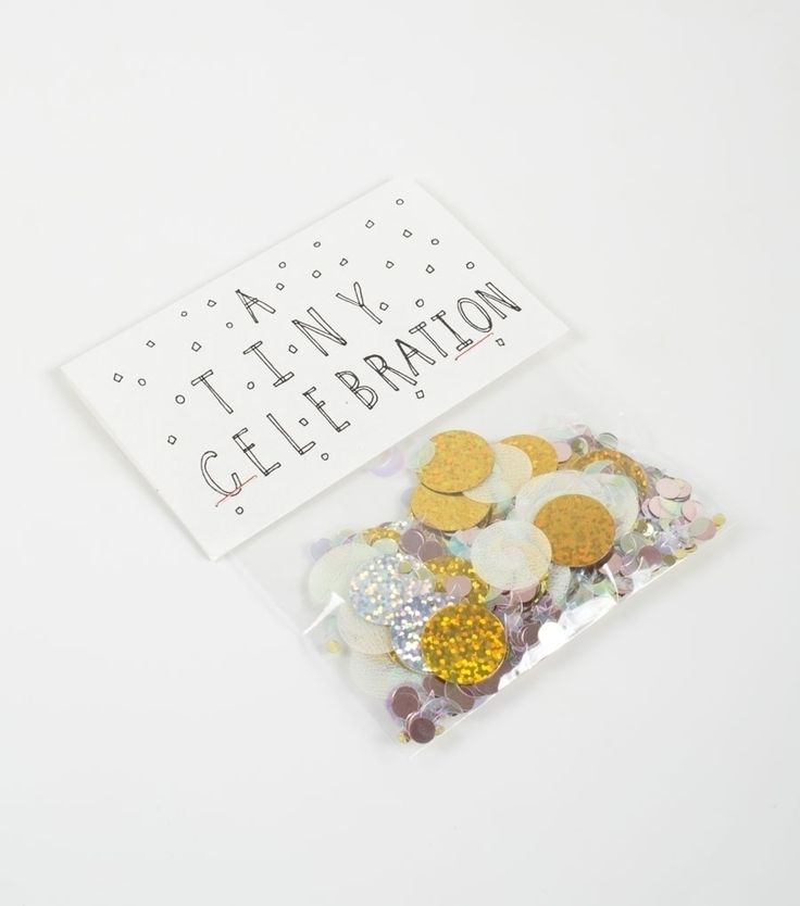 Mail somebody a tiny celebration: a small bag of confetti. DIY this.