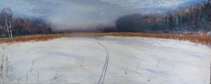 ,,Footprints in the snow,, painter Marko Sapiolko