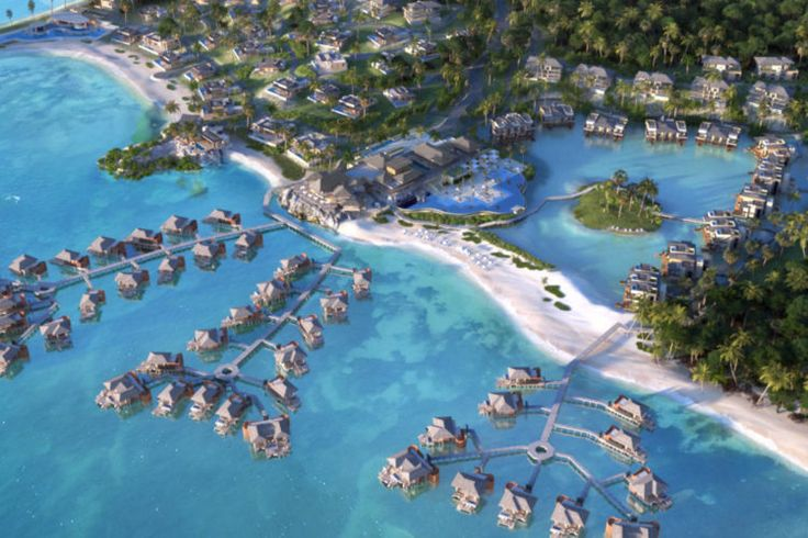 Forget Bora Bora, these awesome overwater bungalows will be much closer to USA!  Open 2019