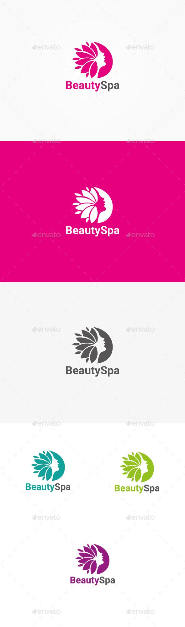 Beauty Spa Logo — Vector EPS #hairs #girl • Available here → https://graphicriver.net/item/beauty-spa-logo/10550586?ref=pxcr