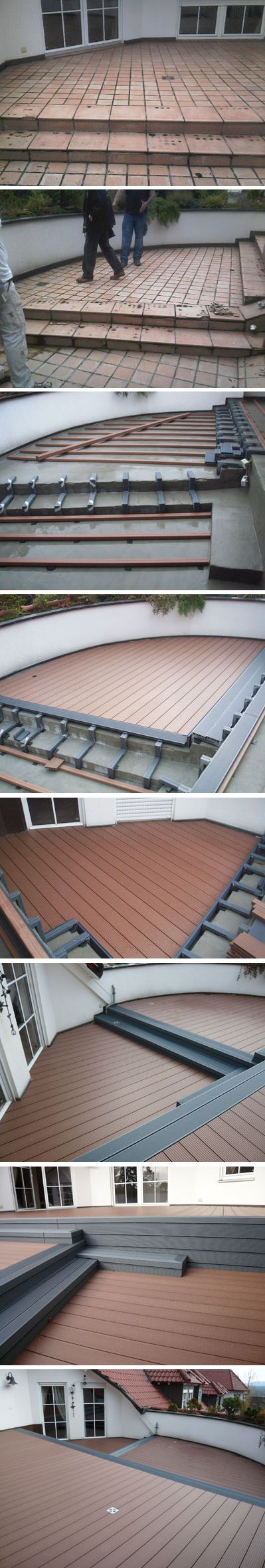 Before and after installing UPM ProFi Deck.