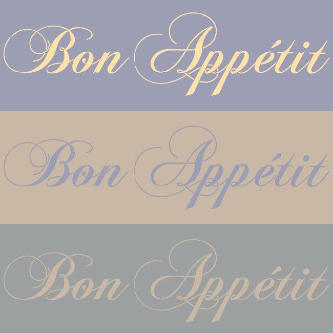 Bon Appetit Lettering Stencil | Royal Design Studio