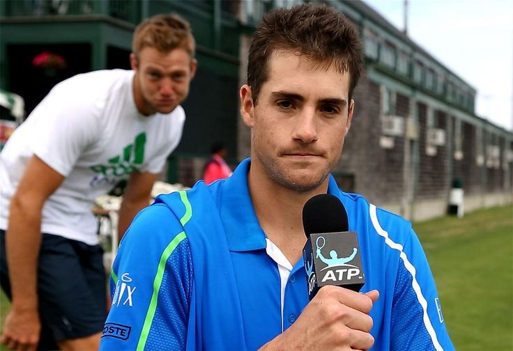 This is why I love Jack Sock. A perfect photo-bomb of John Isner while he's being interviewed... #TeamUSA  #jack sock