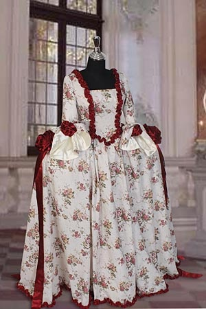 Marie Antoinette dress. Would love this translated into Edwardian - beautiful fabric.