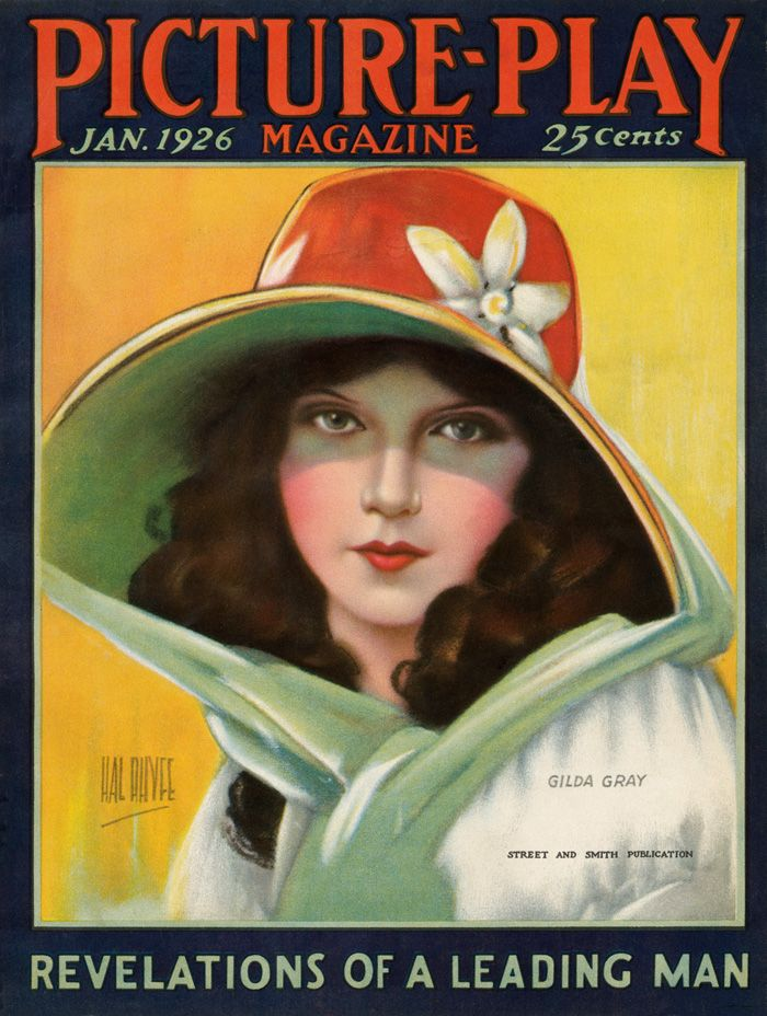 Gilda Gray - Cover Art by Hal Phyfe - Picture-Play Magazine - January 1926