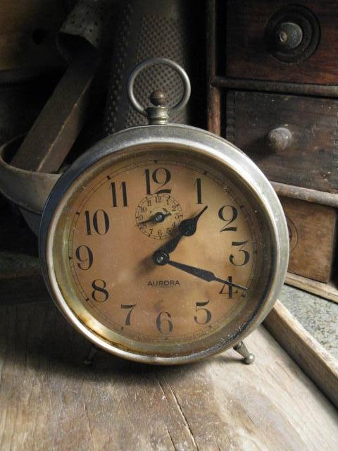 What is it about old clocks?  HighButtonShoe farmhouse