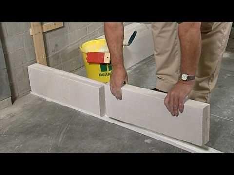 Ytong blokken op maat maken bij vloerophoging - YouTube