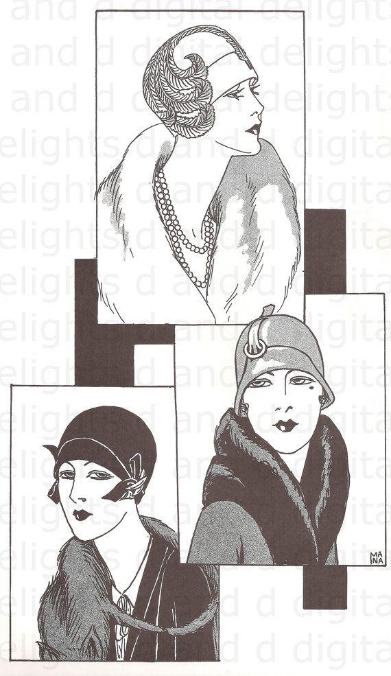 digital image of 3 women in 1920s by