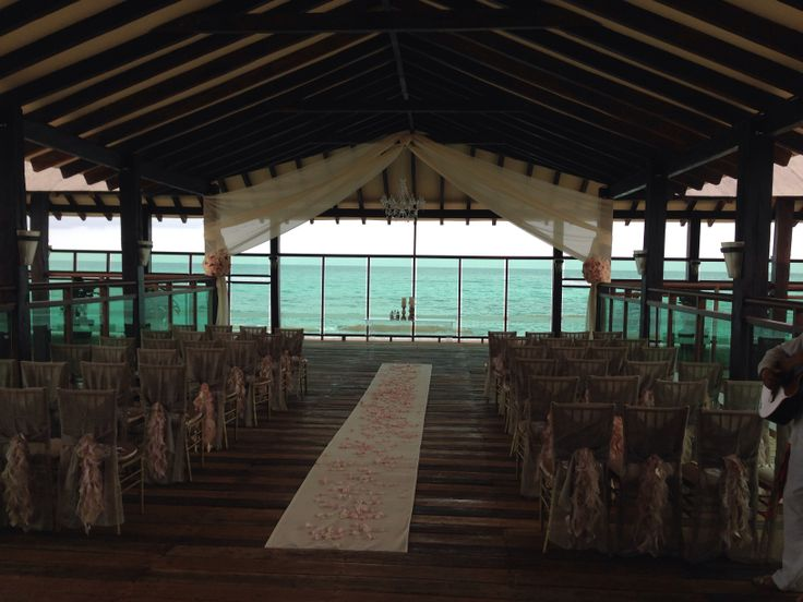 Ceremony Setup At Pier Off Of The Market Restaurant Generations Maya Riviera For May 3 Destination WeddingsMayaWedding VenuesWedding