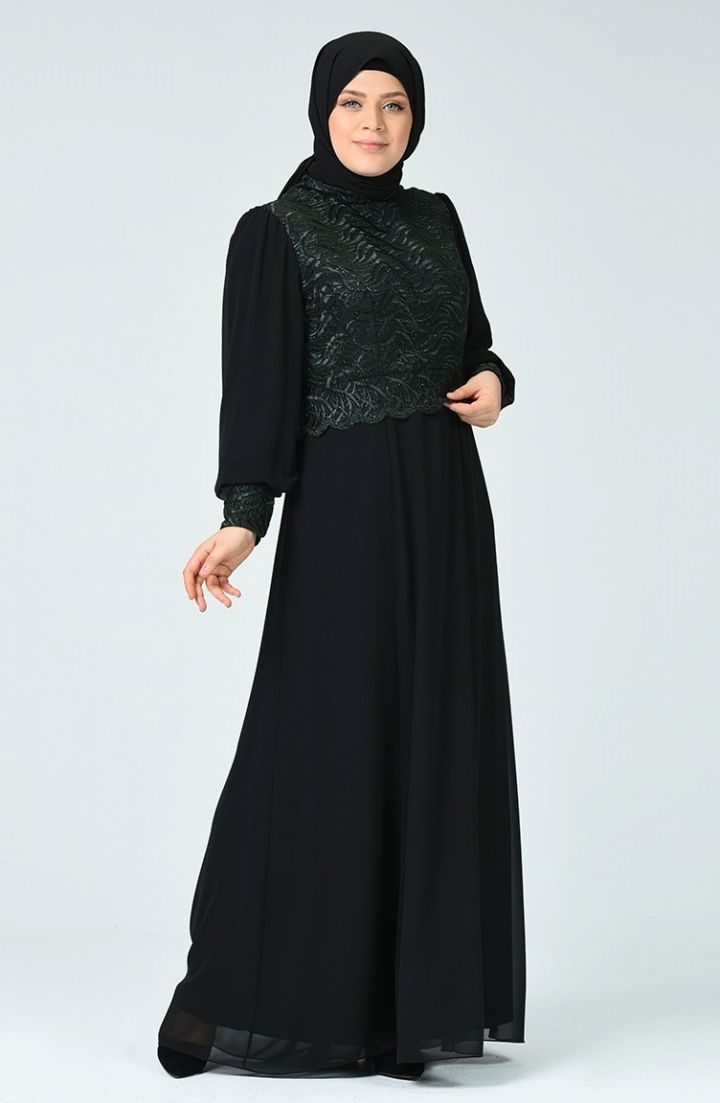 Sefamerve Buyuk Beden Simli Abiye Elbise 1313 02 Zumrut Yesili 2020 Elbise Elbise Modelleri The Dress