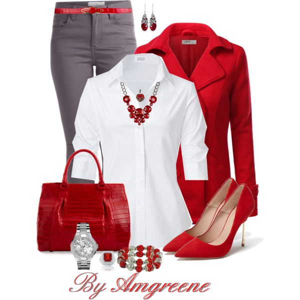 """""""RED"""" by amgreene on Polyvore"""