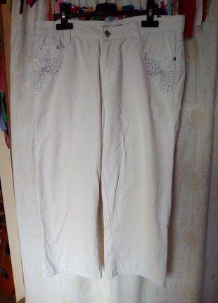 À vendre sur #vintedfrance ! http://www.vinted.fr/mode-femmes/pantacourts/31769144-joli-pantacourt-blanc-avec-paillettes-t42