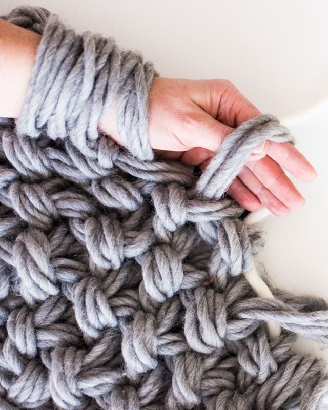 To guide our foray into needle-free knitting, we've rounded up answers to the most-asked questions and sources for stocking up on, then using, enormous yarn.