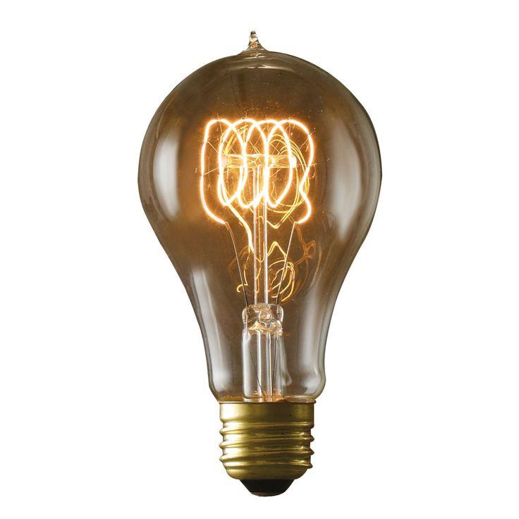 Bulbrite Victorian Loop Filament A21 Incandescent Edison Light Bulb - 4 pk. - BULB534