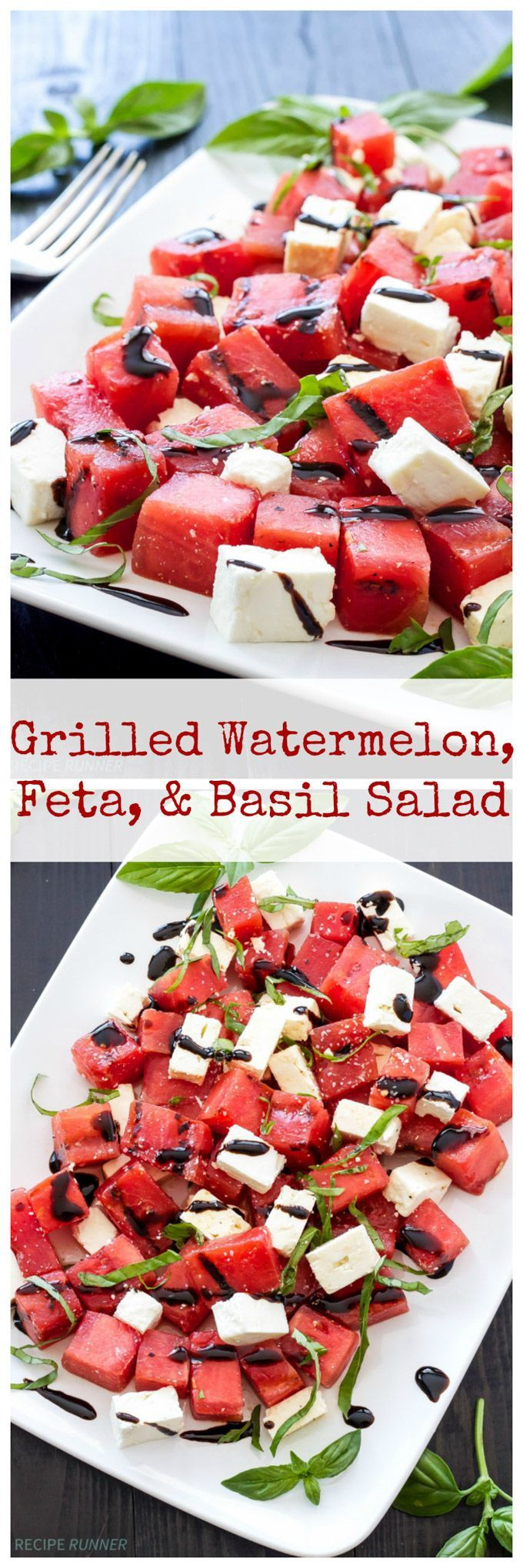 awesome Grilled Watermelon, Feta, and Basil Salad - Recipe Runner