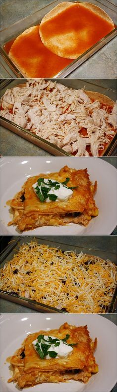 Skinny Chicken Enchilada Casserole- I wasn't a fan of these because the recipe called for SO MANY onions. I would cut the amount of onions called for in half or more. Seth said it was ok, but he's more of an onion fan.