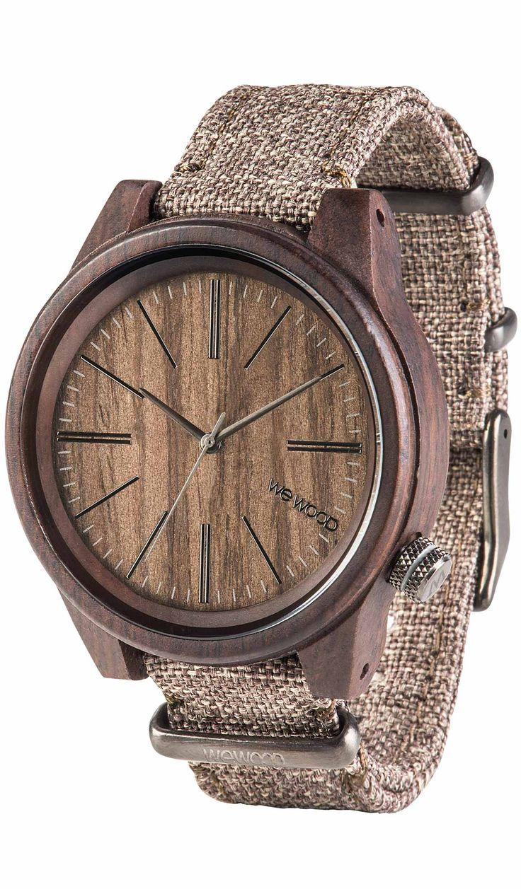 TORPEDO CHOCO LINEN | Holzuhren | WEWOOD Uhren Online Shop: Individuelle Design-Uhren aus Holz | kostenloser Versand innerhalb Deutschlands!