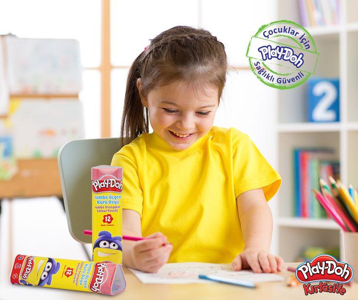 Kuru boya severler like'ladı bile! #playdohkirtasiye #playdoh #kirtasiye #stationery #okul #kuruboya #colourpencils #playdohkuruboya