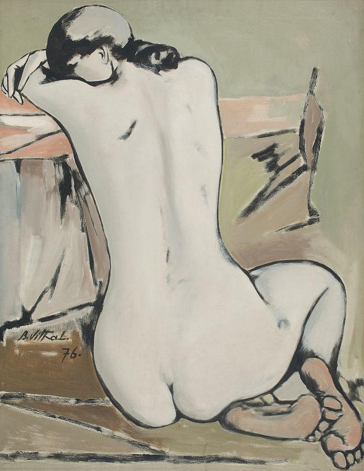 B. Vithal Medium: Oil on canvas Year: 1976 Size: 36 x 28 in.