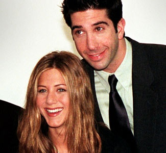 Jennifer Anniston (Rachel) and David Schwimmer (Ross) - Friends