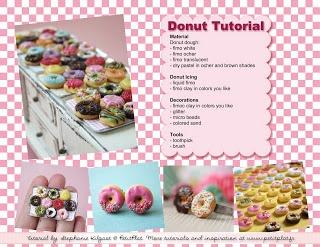 PetitPlat Handmade Miniature Food: How to Make Miniature Donuts - Free Tutorial