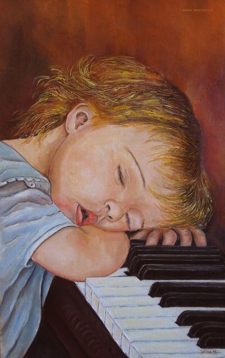 Piano lesson - 25x40 - 2015