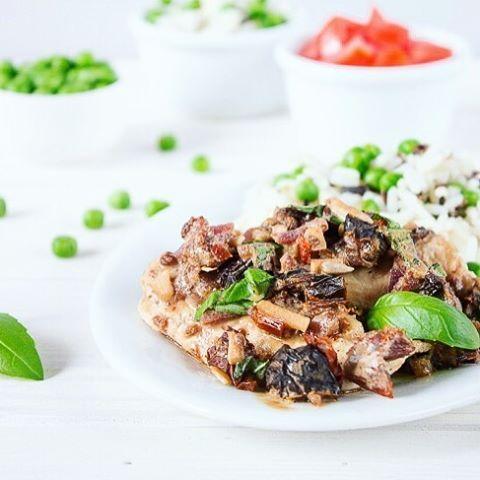 Chicken with sun-dried tomatoe sauce #dinner #chicken #food #instagood #healthy #kurczak #obiad