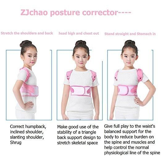 (FREE KIDS NECKLACE INCLUDED)Scoliosis Posture Correctors, Back Shoulder Lumbar Waist Supporting Belt Bone Injury Correction Straighten Upper Back Slouching Corrective Prevent Children humpback
